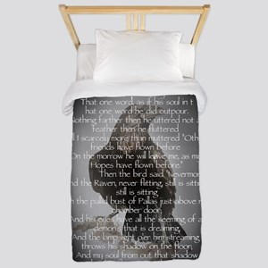 Edgar Allen Poe The Raven Poem Twin Duvet