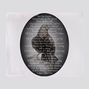 Edgar Allen Poe The Raven Poem Throw Blanket