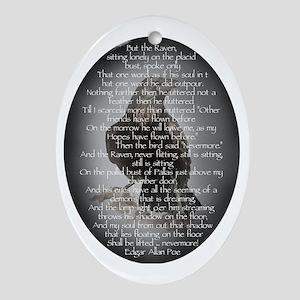 Edgar Allen Poe The Raven Poem Ornament (Oval)
