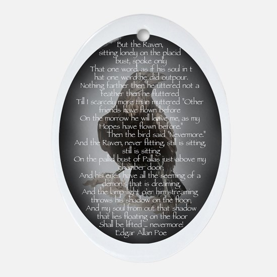 Edgar Allen Poe The Raven Poem Ornament (Oval)