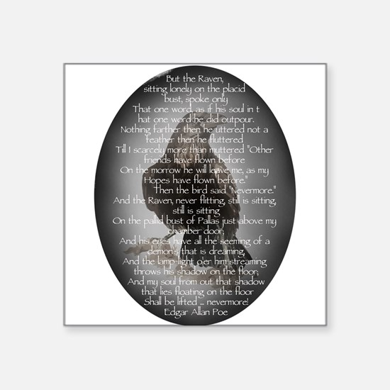 Edgar Allen Poe The Raven Poem Sticker