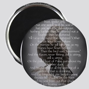 Edgar Allen Poe The Raven Poem Magnet