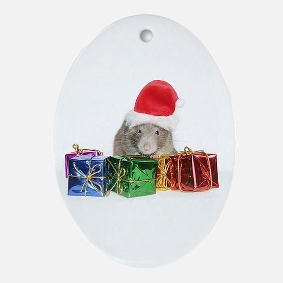 Santa Rufus Oval Ornament