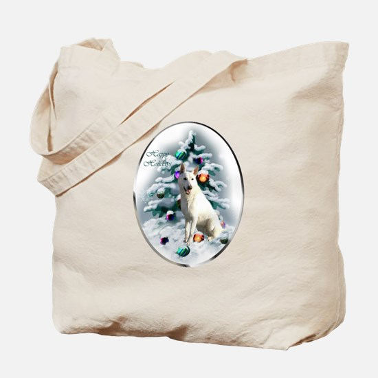 White German Shepherd Christmas Tote Bag