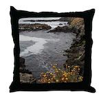 Seal Rock Coastal Scene Throw Pillow