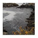 Seal Rock Coastal Scene Tile Coaster