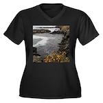 Seal Rock Coastal Scene Plus Size T-Shirt