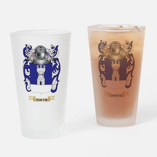 Fortis Coat of Arms Drinking Glass
