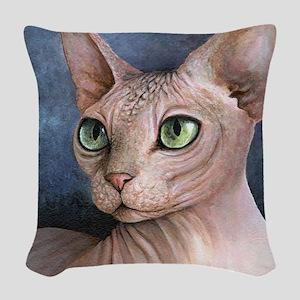 Cat 578 Woven Throw Pillow