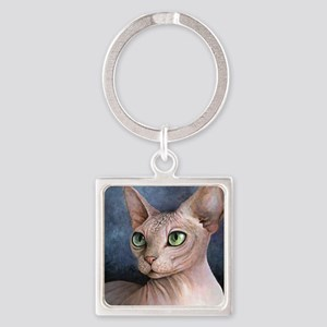 Cat 578 Square Keychain
