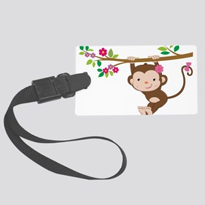 Swinging Baby Monkey Large Luggage Tag
