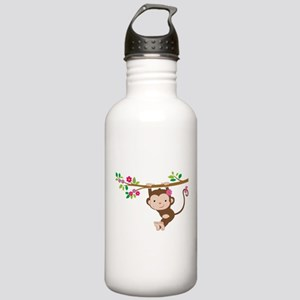 Swinging Baby Monkey Stainless Water Bottle 1.0L
