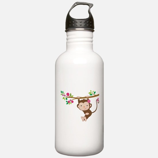 Swinging Baby Monkey Water Bottle