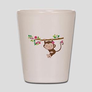 Swinging Baby Monkey Shot Glass