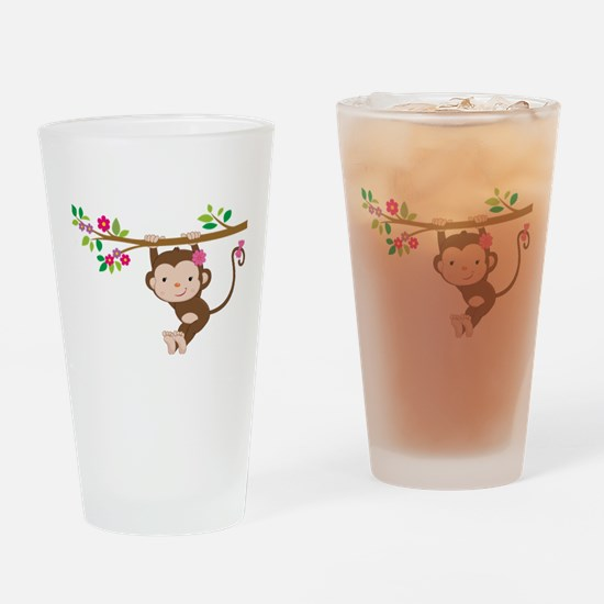 Swinging Baby Monkey Drinking Glass