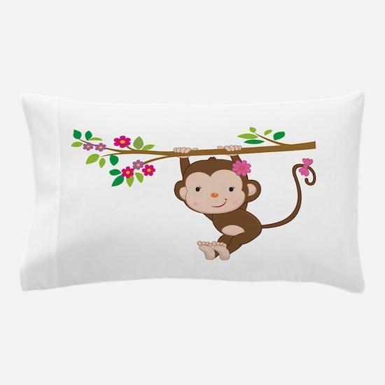 Swinging Baby Monkey Pillow Case