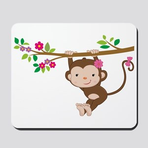 Swinging Baby Monkey Mousepad
