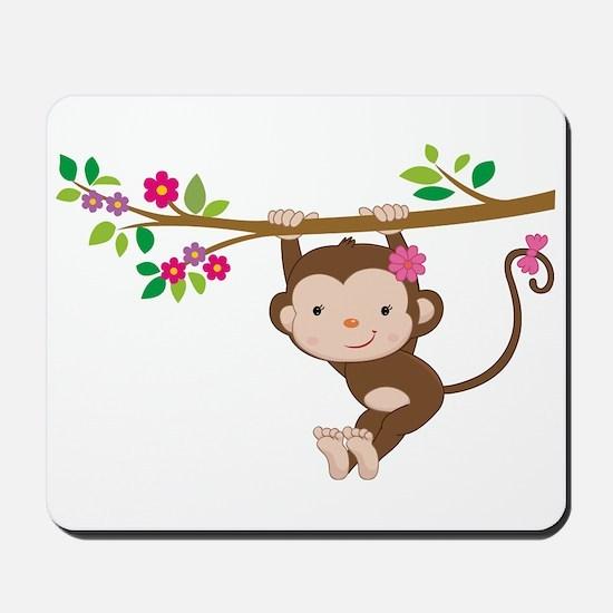 Swinging Baby Monkey Mousepad