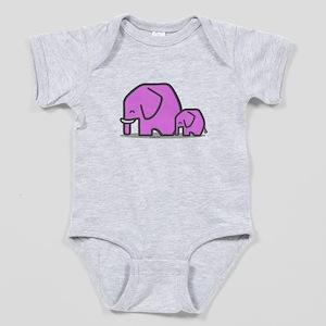 Elephants Baby Bodysuit