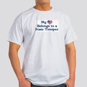 My Heart: State Trooper Ash Grey T-Shirt