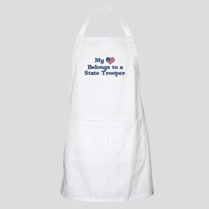 My Heart: State Trooper BBQ Apron