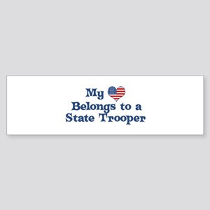 My Heart: State Trooper Bumper Sticker