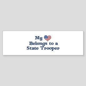 My Heart: State Trooper Bumper Sticker
