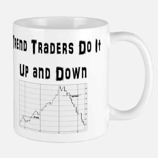 Trend traders do it up and down Mug