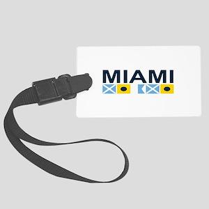 Miami - Nautical Flags. Large Luggage Tag