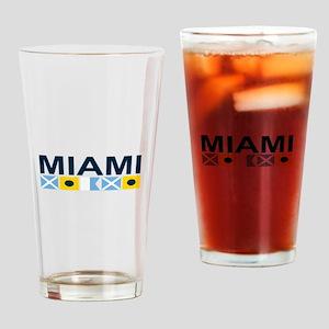 Miami - Nautical Flags. Drinking Glass