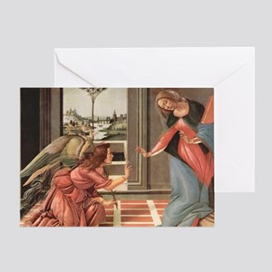 Cestello Annunciation by Botticelli Greeting Card