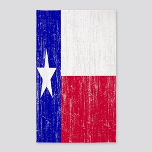 Vintage Texas Flag 3'x5' Area Rug