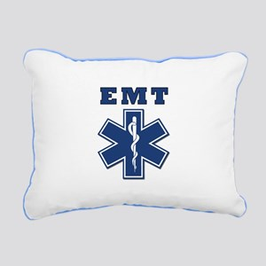 EMT Blue Star Of Life* Rectangular Canvas Pillow