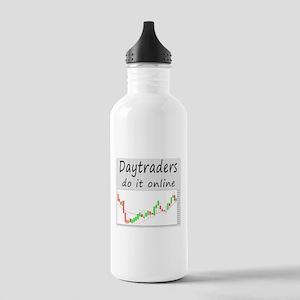 Daytraders do it online Water Bottle