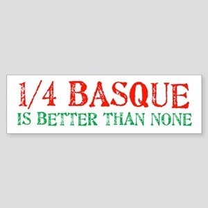 Quarter Basque Bumper Sticker