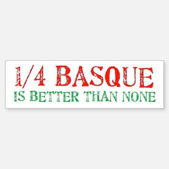 Quarter Basque Bumper Bumper Bumper Sticker