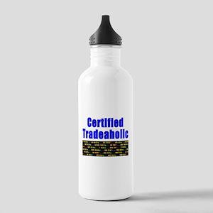 Certified tradeaholic Water Bottle