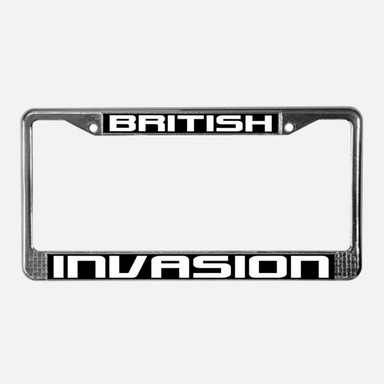 British Invasion License Plate Frame
