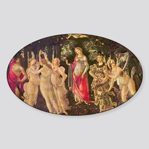 Primavera by Botticelli Sticker (Oval)