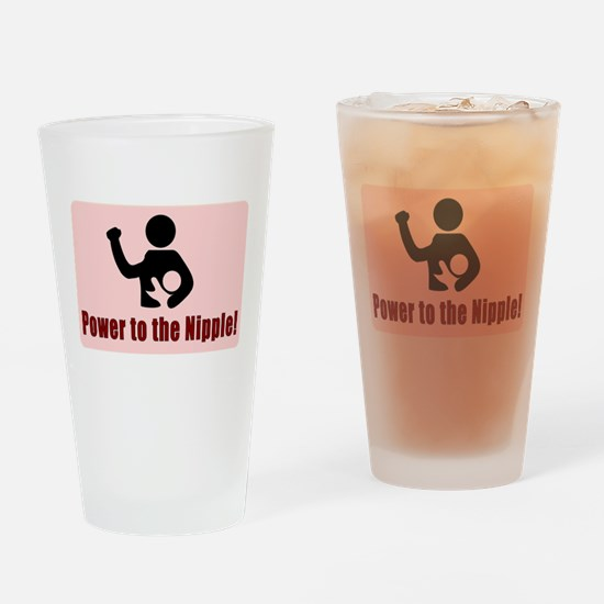 Power to the Nipple Drinking Glass