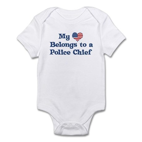 My Heart: Police Chief Infant Bodysuit