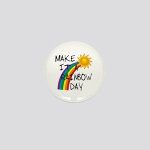 Rainbow Day Mini Button