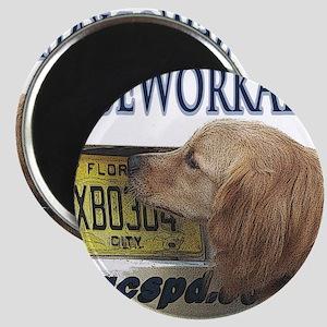 Golden Retriever Nose Work Alert Magnet