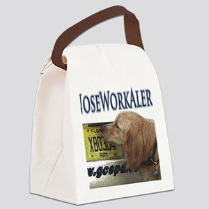 Golden Retriever Nose Work Alert Canvas Lunch Bag