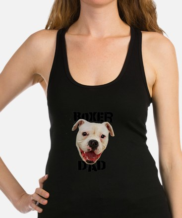 Boxer Dad Dog Racerback Tank Top