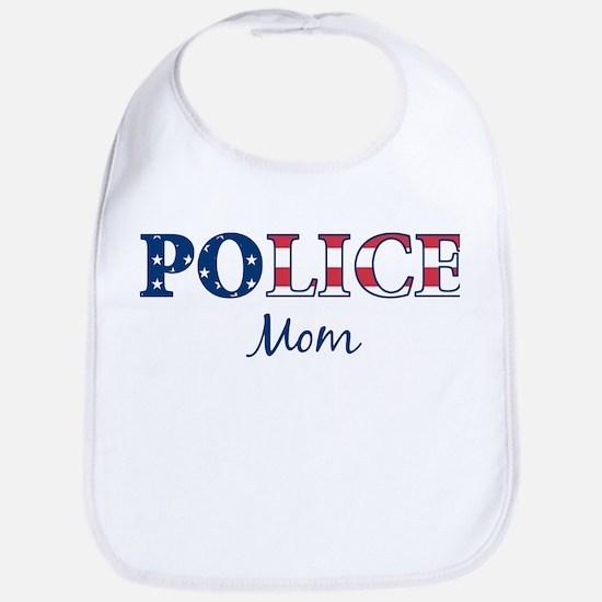Police Mom - patriotic Bib