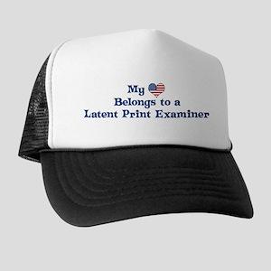 My Heart: Latent Print Examin Trucker Hat