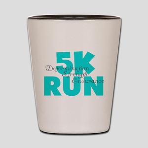 5K Run Aqua Shot Glass