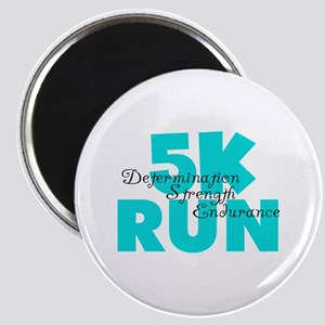 5K Run Aqua Magnet