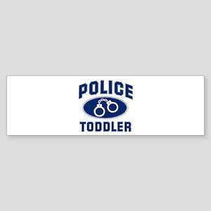 Police Cuffs: TODDLER Bumper Sticker
